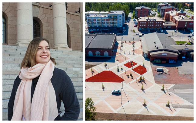 Rebecca Åkers vill se ett levande kommuncentrum och att Korsholm ger företagare möjlighet att prova sina koncept i en popup-butik.