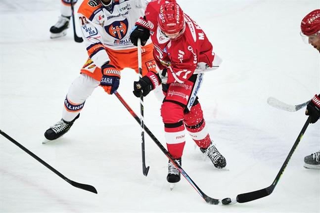 Michael Keränen, här hemma mot Tappara, satte segermålet i Åbo.