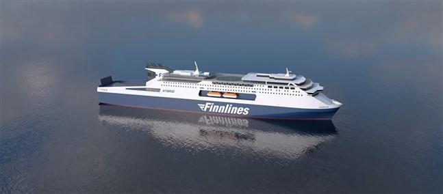 Finnlines nybyggen, som sätts i trafik mellan Finland och Sverige 2023, utrustas med teknik från Wärtsilä.