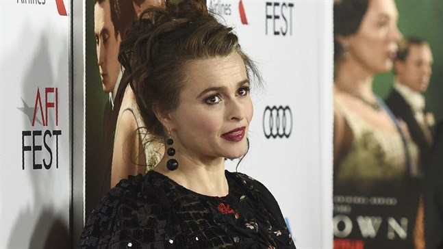 "Helena Bonham Carter spelar prinsessan Margaret i ""The crown"". Arkivbild."