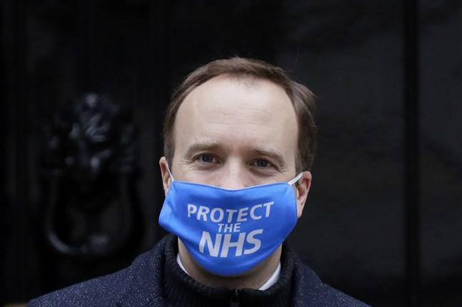 Matt Hancock på Downing Street i London på onsdagen.