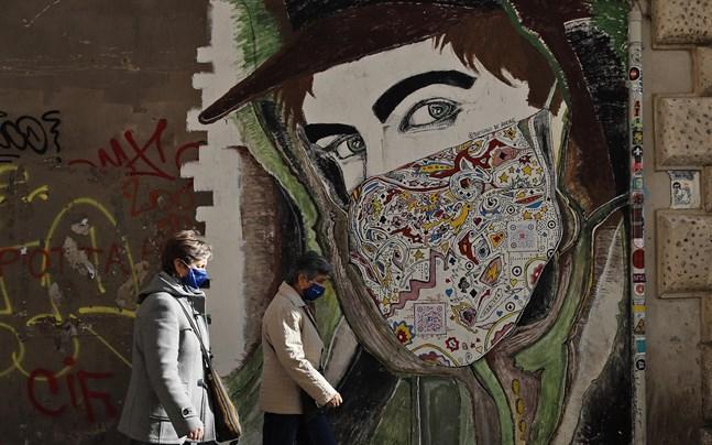 En väggmålning i Italiens huvudstad Rom.