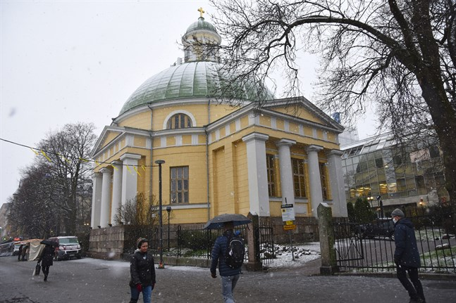 Ortodoxa kyrkan i Åbo står vid Salutorget och byggdes i mitten av 1800-talet. Den står på lergrund och är inte pålad.