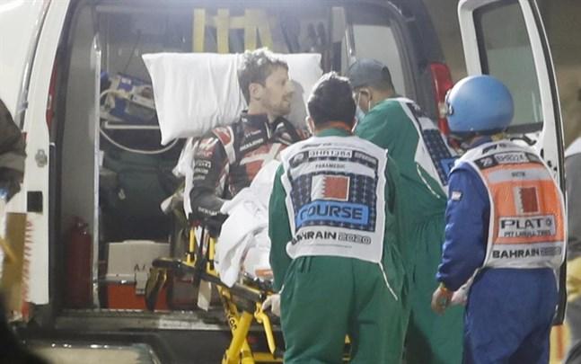 Haas-föraren Romain Grosjean kraschade otäckt i förra helgens race i Bahrain.