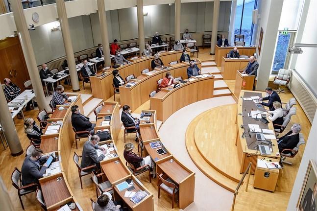 Christian Backlund har haft många talturer i Pedersörefullmäktige under åren som gått. På budgetmötet i december var det ett inlägg om vindkraft som väckte debatt.
