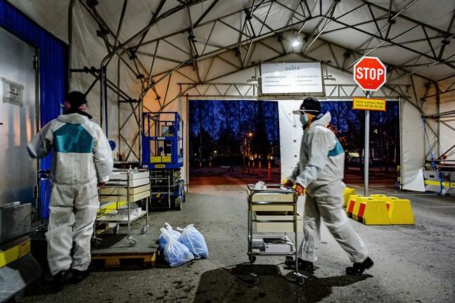 44 Karlebybor har nu testat positivt för coronaviruset sedan pandemins början. Bilden är från drive in-testningen vid Möcs.