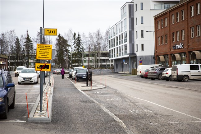 Taxistolpen i Smedsby är inte längre i bruk.