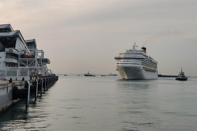 Ett kryssningsfartyg anländer till Singapore. Arkivbilden är tagen i ett annat sammanhang.