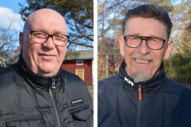 Kari Häggblom, till vänster, och Carl-Gustav Mangs har inte bestämt om de vill fortsätta vara med i Kasköpolitiken.
