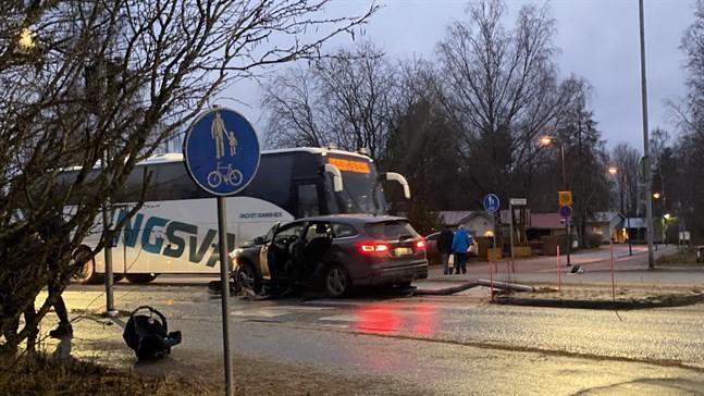 En singelolycka inträffade i närheten av Kyrkostrands skola på onsdagseftermiddagen.