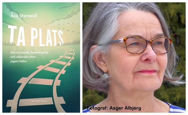 """Åsa Stenwall är aktuell med boken """"Ta plats"""" som ges ut av förlaget Scriptum. Porträttfotograf: Asger Albjerg."""