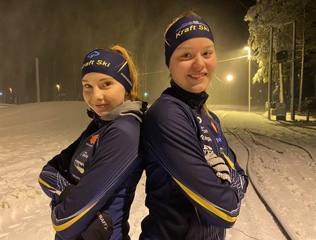 Ellinor Halonen och Johanna Häggkvist kommer att tävla i parsprint i klassen D16.