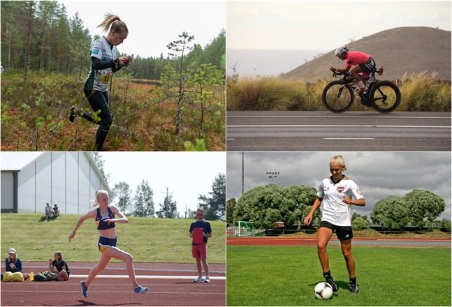 Kirsi Nurmi och Aino Luoma jobbar som läkare medan Emma Nyman och Freja Lähteenmäki har kommit en bit in i studierna. Alla fyra idrottar samtidigt på hög nivå.