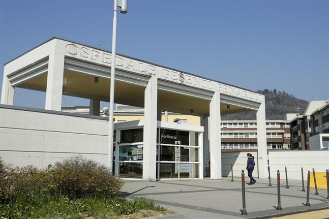 Ett sjukhus i Alzano, nära Bergamo, som belastades hårt av coronapandemin i början av mars.