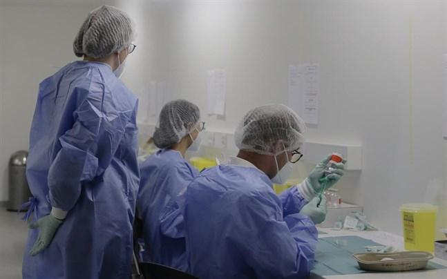 Doser av coronavaccin förbereds på en anläggning i Berlin, Tyskland.