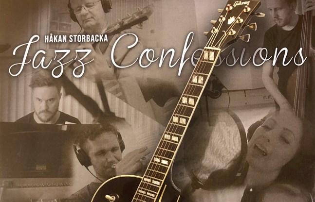 """Ett utsnitt av omslaget till Håkan Storbackas skiva """"Jazz Confessions"""", med foton av Jan Holmgård och layout av Anders Eklund."""