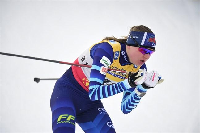 Johanna Matintalo gjorde karriärens vassaste världscuplopp i Val di Fiemme.