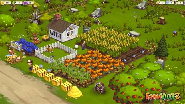 """""""Farmville"""" gjorde succé på Facebook. Bilden kommer från """"Farmville 2""""."""