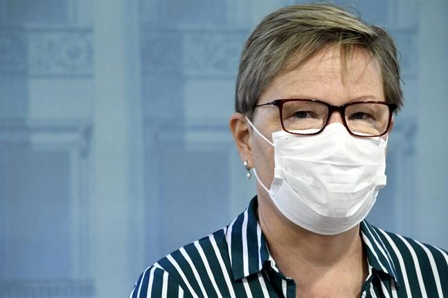Tuija Kumpulainen från Social- och hälsovårdsministeriet.