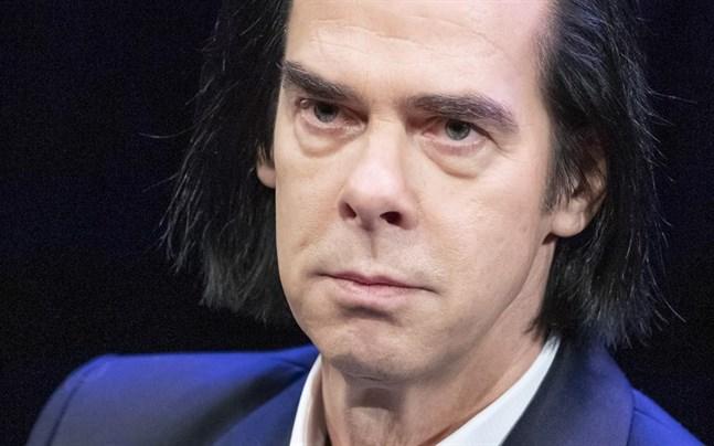 Nick Cave vid en presskonferens i Köpenhamn i höstas.