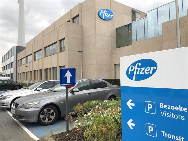 Amerikanska läkemedelsjätten Pfizer har valt ut sin fabrik i Puurs i Belgien som en av de två globala produktionsplatserna för bolagets covid-19-vaccin. Arkivfoto.