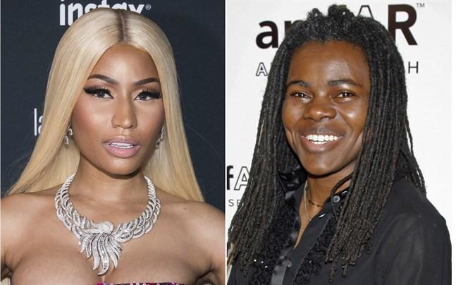 Nicki Minaj betalar Tracy Chapman 450000 dollar efter att ha samplat en av hennes låtar och använt den i sin egen låt.
