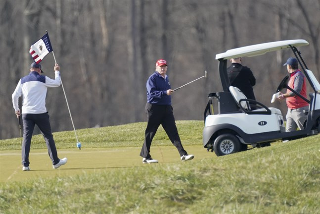 Donald Trump på en av sina golfbanor.