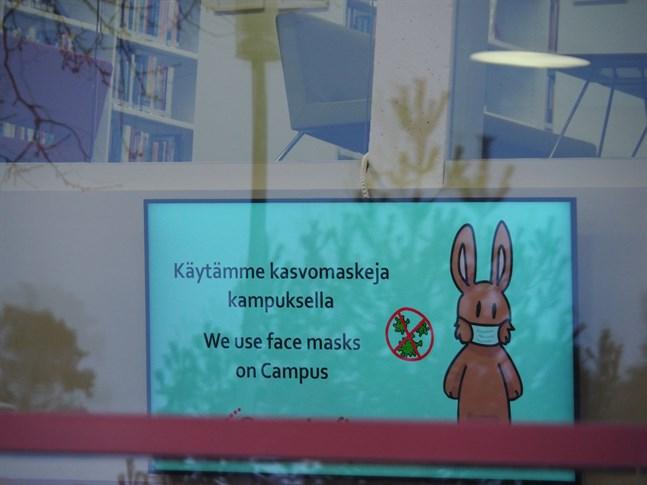 Det förutspås ingen trängsel vid Centrias campus i Karleby denna termin, då det mesta av undervisningen åtminstone inledningsvis sker online.