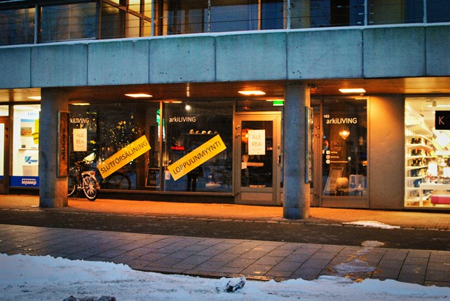 Snart står ännu en affärslokal i Vasa centrum tom.