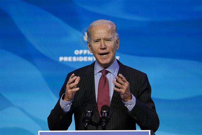 USA:s tillträdande president Joe Biden vill inte att riksrättsåtalet mot Trump ska hindra hans egna politiska arbete. Arkivbild.
