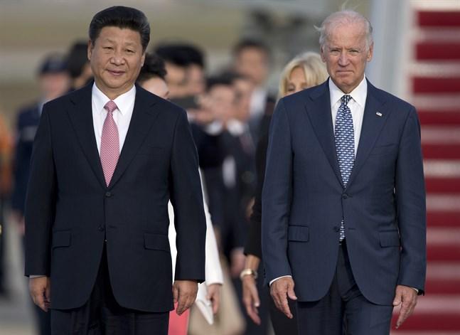Xi Jinping och Joe Biden, då USA:s vicepresident, under den kinesiske presidentens statsbesök i Washington i september 2015.