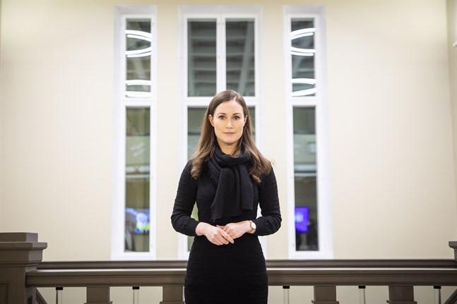 Statsminister Sanna Marin (SDP) säger att hon gillar det samarbete mellan högskolor, staden, privata företag och näringslivet som hon ser i Vasa.