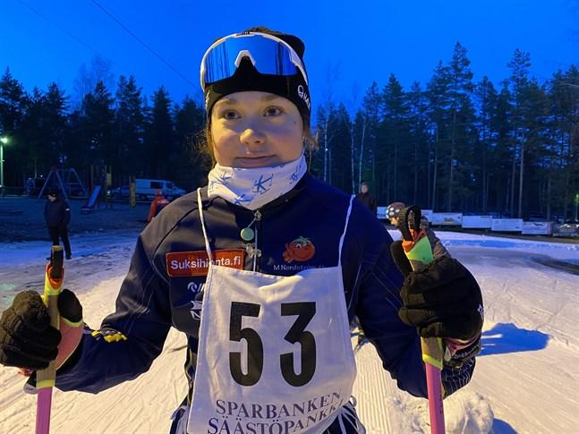 Felicia Krook gjorde ett topplopp då skidsäsongen inleddes i Seinäjoki på lördagen.