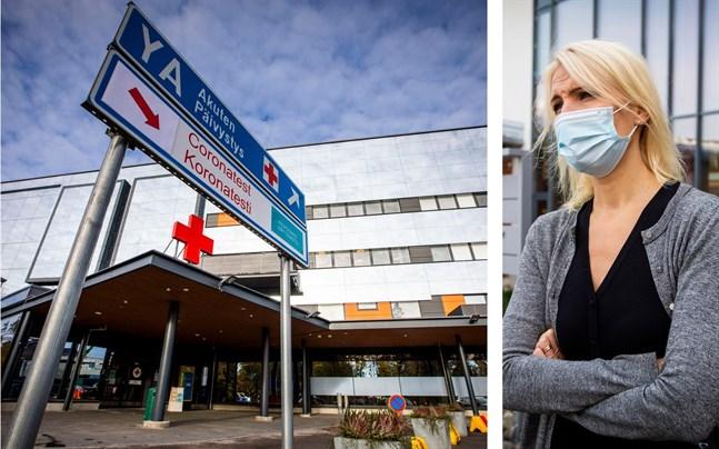 Sjukvårdsdirektör Marina Kinnunen inväntar nya åtgärder från regering och riksdag, men lokalt hoppas hon att fler snabbtester ska kunna göras i Vasa.