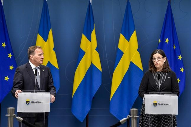 Statsminister Stefan Löfven (S) och utbildningsminister Anna Ekström (S). Arkivbild.