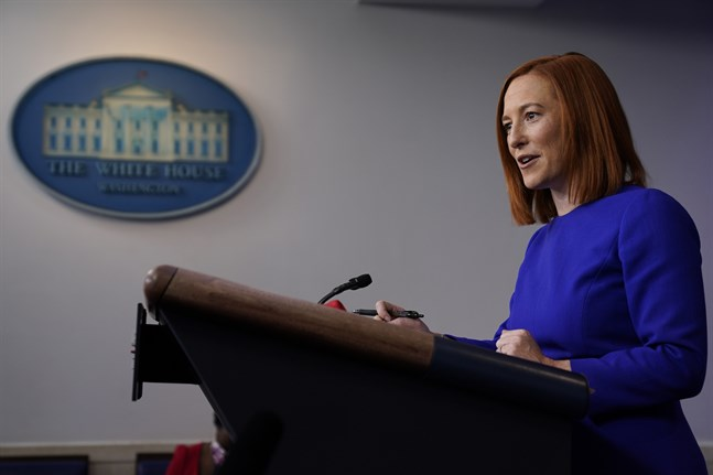 Vita husets nya pressekreterare Jen Psaki har hållit sin första presskonferens.