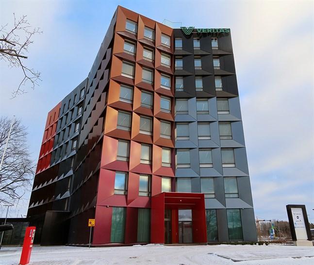Veritas har byggt en energieffektiv ny kontorsbyggnad i åtta våningar i Åbo.