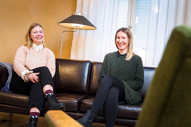 Sofie Ena och Mervi Bro jobbar bland annat med par- och familjeterapi.