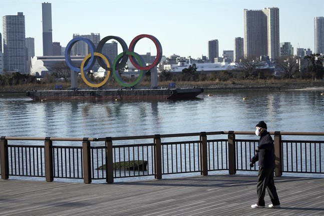 De olympiska ringarna i Tokyo väntar fortfarande på sitt olympiska spel.