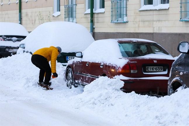 Snötäcket växte ordentligt i Österbotten. Men det finns mer snö både i norr och i söder.