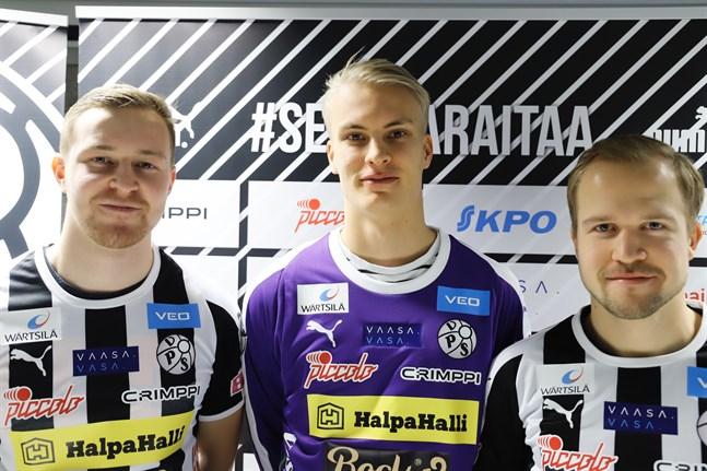 Riku Jääskä, Teppo Marttinen och Miika Niemi.