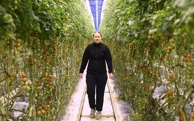 Emma Granö-Ring är uppvuxen i växthus. Nu ska hon snart ta över verksamheten tillsammans med maken Sebastian Ring.