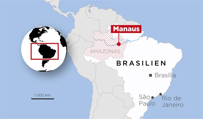 Manaus är huvudstad i delstaten Amazonas i Brasilien.