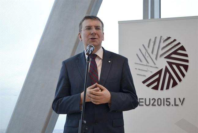 Lettlands utrikesminister Edgars Rinkevics. Arkivfoto.