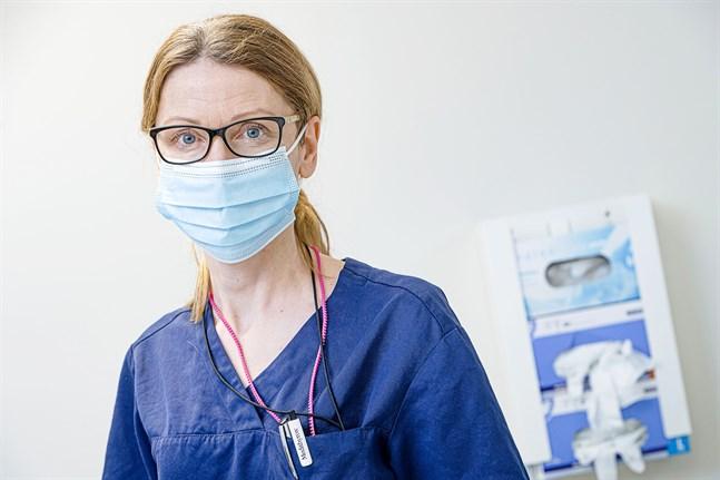 Smittskyddsläkare Johanna Gripenberg. 26.1.2021.