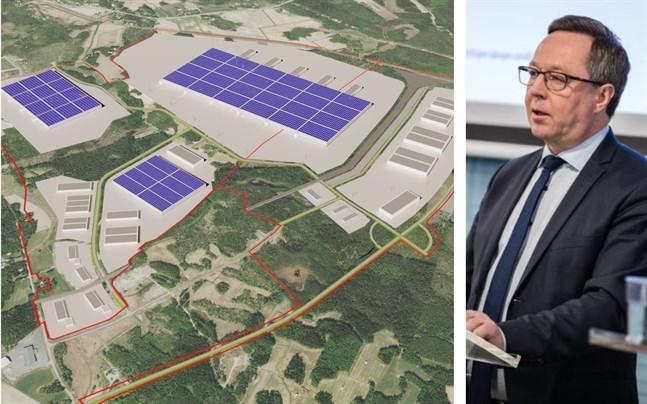 Mika Lintilä berörde planen för jättelika batterifabriker i Vasa, men utan att gå in på några verkligt nya detaljer.