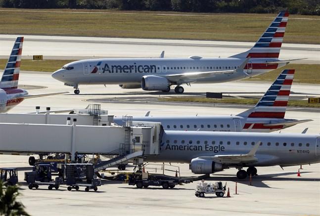 Ett Boeing 737 Max-plan tillhörande flygbolaget American Airlines. Arkivbild.