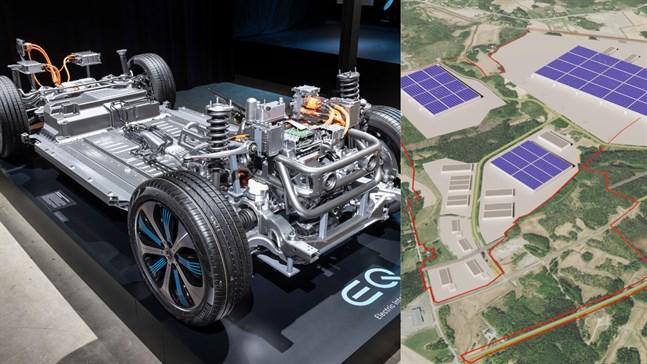 Valmet Automotive har inte berättat vilka aktörers batterier det handlar om, men det spekuleras redan i att ena kan vara Daimler. På bilden syns också Gigavasa.