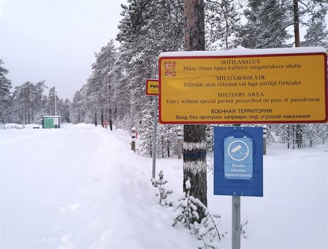 Skjutområdet i Lohteå där två poliser skadades under en övning med sprängämnen.