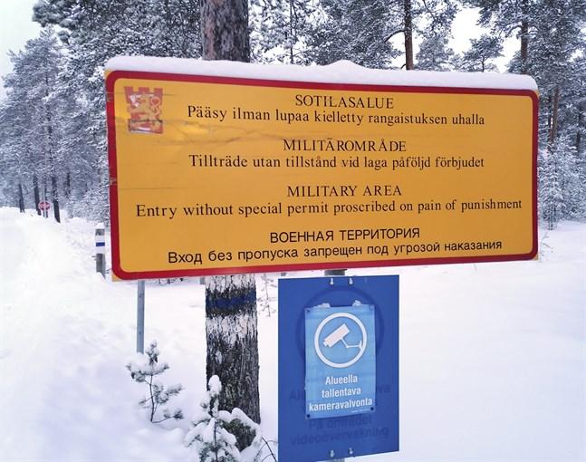 Skjutområdet i Lochteå där poliserna skadades.